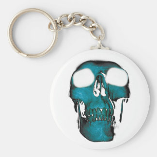 Wellcoda Human Head Horror Fun Creep Mask Basic Round Button Key Ring