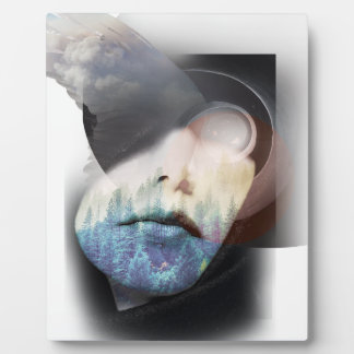 Wellcoda Human Nature Portrait Cloud Face Plaque