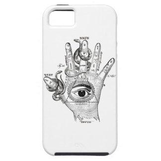 Wellcoda Illuminati Compass Snake Hand Case For The iPhone 5