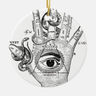 Wellcoda Illuminati Compass Snake Hand Christmas Ornament