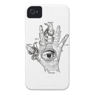 Wellcoda Illuminati Compass Snake Hand iPhone 4 Covers