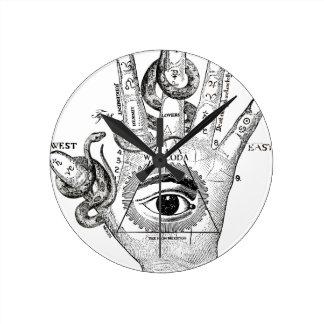 Wellcoda Illuminati Compass Snake Hand Wallclock
