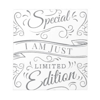Wellcoda I'm Not Just Special Seriously Notepad