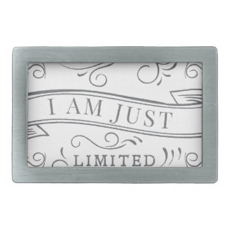 Wellcoda I'm Not Just Special Seriously Rectangular Belt Buckles
