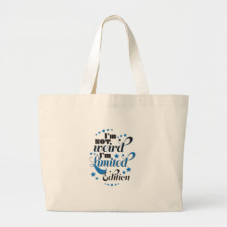Wellcoda Im Not Weird Limited Edition Large Tote Bag