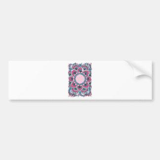 Wellcoda Indian Flower Bloom Pattern Asia Bumper Sticker