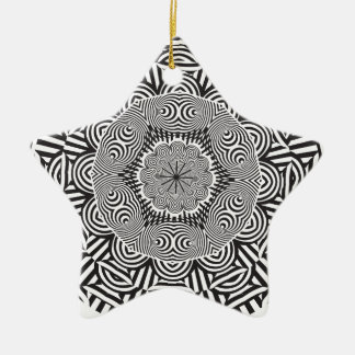 Wellcoda Indian Style Illusion Optical Ceramic Star Decoration