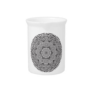 Wellcoda Indian Style Illusion Optical Pitcher