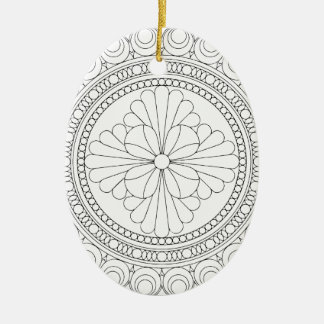 Wellcoda Indian Style Pattern Crazy Print Christmas Ornament