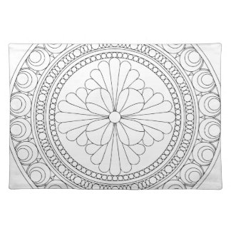 Wellcoda Indian Style Pattern Crazy Print Placemat