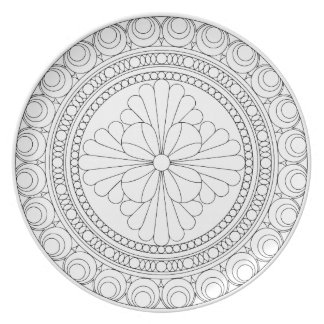 Wellcoda Indian Style Pattern Crazy Print Plate