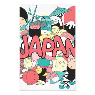Wellcoda Japan Cartoon Culture Anime Life Personalised Stationery