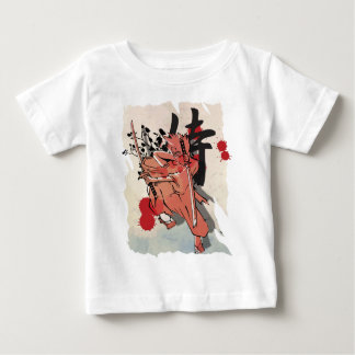 Wellcoda Japan Fighter Samurai Anime Art Baby T-Shirt
