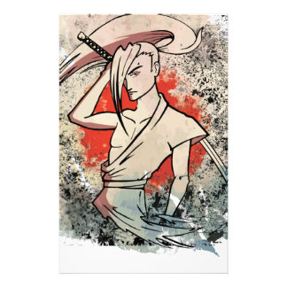 Wellcoda Japan Samurai Sword Fight Attack Personalized Stationery