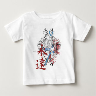 Wellcoda Japan Samurai Warrior Katana Sun Baby T-Shirt