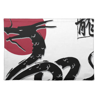 Wellcoda Japanese Dragon Myth Monster Fun Placemats