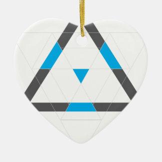 Wellcoda Kaleidoscope Dream Life Hypnotic Ceramic Heart Decoration