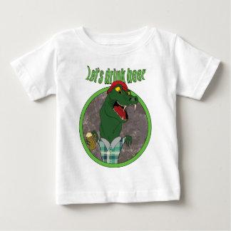 Wellcoda Let's Drink Beer Fun Crocodile Baby T-Shirt