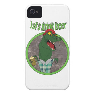 Wellcoda Let's Drink Beer Fun Crocodile Case-Mate iPhone 4 Case