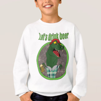 Wellcoda Let's Drink Beer Fun Crocodile Sweatshirt