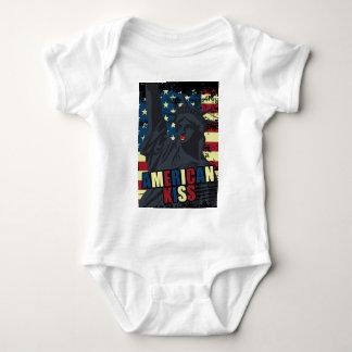 Wellcoda Liberty Statue Kiss America Lips Baby Bodysuit