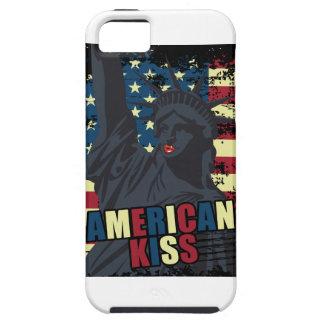 Wellcoda Liberty Statue Kiss America Lips iPhone 5 Case