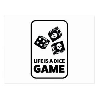 Wellcoda Life Is A Dice Game Casino Fun Postcard