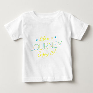 Wellcoda Life Is A Journey Enjoy The Ride Baby T-Shirt