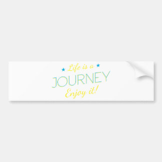 Wellcoda Life Is A Journey Enjoy The Ride Bumper Sticker