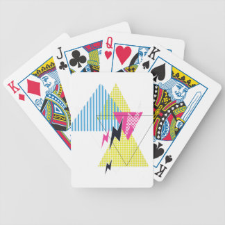 Wellcoda Lightning Bolt Triangle Flash 80's Bicycle Playing Cards