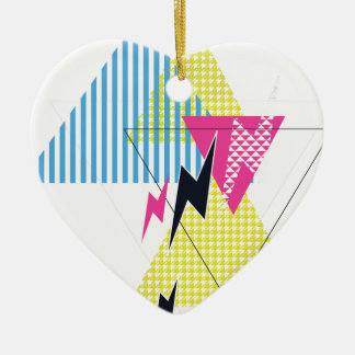 Wellcoda Lightning Bolt Triangle Flash 80's Christmas Ornament