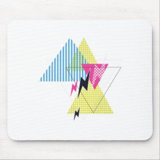 Wellcoda Lightning Bolt Triangle Flash 80's Mouse Mat