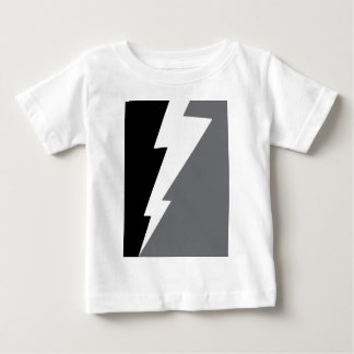 Wellcoda Lightning Shock Strike Grey Black Baby T-Shirt