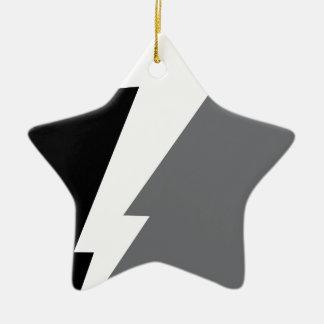 Wellcoda Lightning Shock Strike Grey Black Christmas Ornament