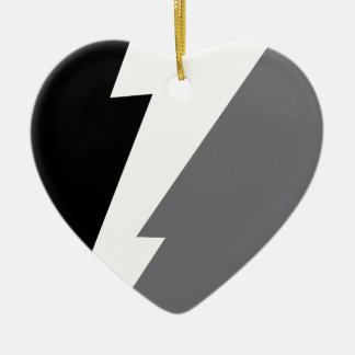 Wellcoda Lightning Shock Strike Grey Black Christmas Ornament