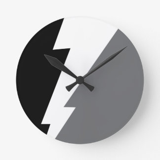 Wellcoda Lightning Shock Strike Grey Black Clocks
