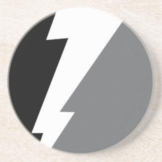 Wellcoda Lightning Shock Strike Grey Black Coaster