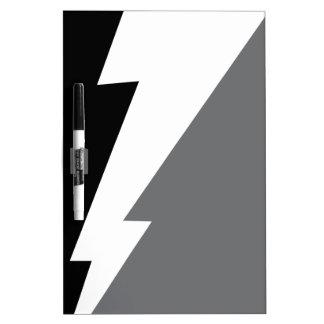 Wellcoda Lightning Shock Strike Grey Black Dry Erase Board