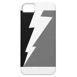 Wellcoda Lightning Shock Strike Grey Black iPhone 5 Cover