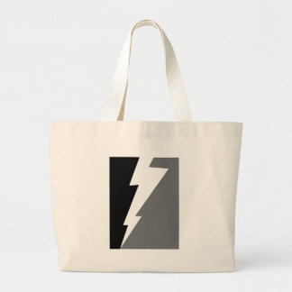 Wellcoda Lightning Shock Strike Grey Black Large Tote Bag