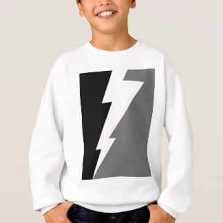 Wellcoda Lightning Shock Strike Grey Black Sweatshirt
