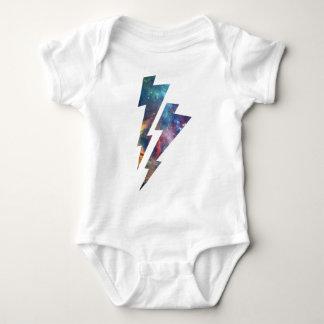 Wellcoda Lightning Strike Space Cosmos Baby Bodysuit