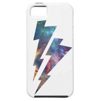 Wellcoda Lightning Strike Space Cosmos iPhone 5 Covers