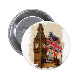 Wellcoda London City England Union Jack 6 Cm Round Badge