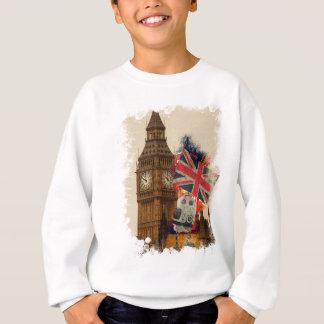 Wellcoda London City England Union Jack Sweatshirt