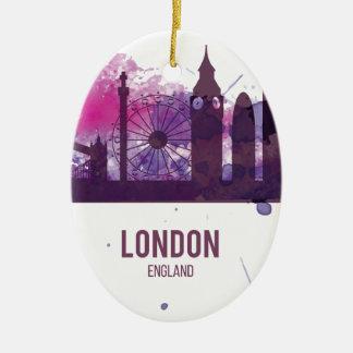 Wellcoda London England Tour Britain Christmas Ornament