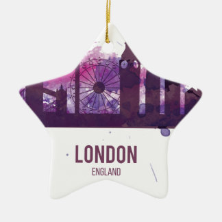 Wellcoda London England Tour Britain Christmas Ornament