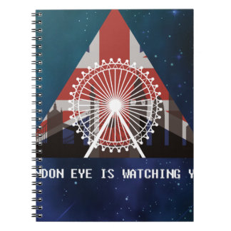 Wellcoda London Eye England UK Illuminati Notebook
