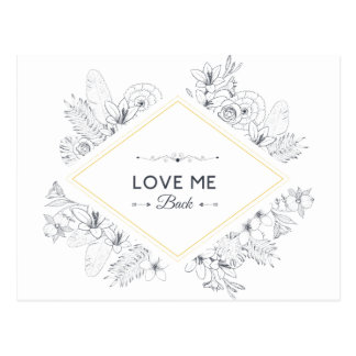 Wellcoda Love Me Back Diamond Romantic Postcard