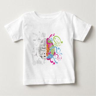 Wellcoda Mad Side Of Brain Fun Study Life Baby T-Shirt